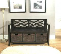 entryway bench with baskets and cushions black storage bench with baskets top rated black storage bench
