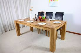 rustic solid wood dining table furniture beautiful dining room white curtain solid wood dining