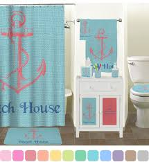 chic beach house shower curtain potty training concepts