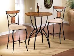 Indoor Bistro Table And 2 Chairs Furniture Attractive Bistro Kitchen Tables Classic Pub Table Set