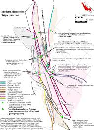 San Andreas Fault Line Map Predictive Model Of San Andreas Fault System Paleogeography Late