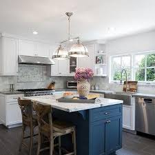 Arcadia Cabinets Lowes Lowes Arcadia Cabinets With Soothing Blue Walls Transitional
