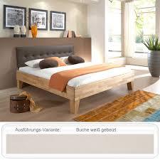 Schlafzimmer Bett 160x200 Massivholzbett Biasca 160x200 Buche Weiß Doppelbett Ehebett