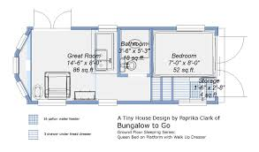 free tiny house trailer plans ground floor sleeping plans queen
