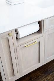 Kitchen Cabinet Paper Built In Paper Towel Holder Kitchen Island Cabinet With Built In
