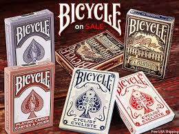 deck set of 6 bicycle cards on sale presidents cyclist