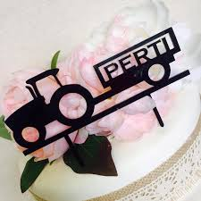 personalised tractor cake topper farmer or tractor lover tractor