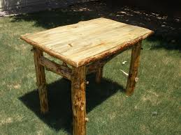 Small Pine Dining Table Dirning Room Log Furniture Phoenix Az