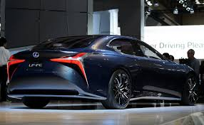 lexus lf sedan lexus signals fuel cell future with holographic gesture controls