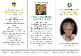 prayer cards for funeral personalized memorial funeral or sympathy prayer cards