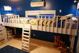 Ana White Camp Loft Bed With Stair Junior Height Diy Projects by Loft Beds Terrific Double Loft Bed Pictures Bedroom Decor Loft
