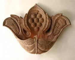 wall candlestick vine leafooak wood carving wall hanging