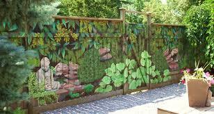 Craft Ideas For Garden Decorations - stunning garden wall murals ideas fence mural sart diy home