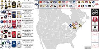 Blank Northeast Map by Nhl Eastern Conference Northeast Division Map And Team Profiles