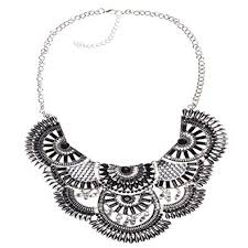 bib necklace black images Sumaju statement necklace boho bohemian tassel collar jpg