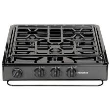 Slide In Gas Cooktop 3 Burner Drop In Cooktop Black Top Suburban 2938abk Counter