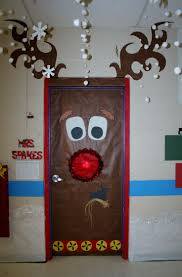 Red Ribbon Door Decorating Ideas Backyards Images About Christmas Door Decorating Merry