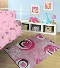 Area Rugs With Circles 4 U0027ft X 6 U0027 Ft Grey Kids Bedroom Area Rug With Pink Circles Design