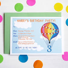 birthday party invitations rainbow balloon personalised birthday party invitations by superfumi