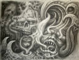skulls demons and smoke by jwheelwrighttattoos on deviantart