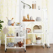 White Bedroom Luggage Rack With Shelf Origami 4 Shelf Folding Rack The Container Store