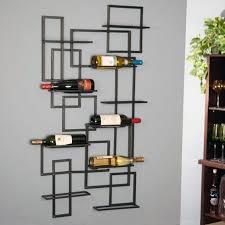 mid century 10 bottle wall rack
