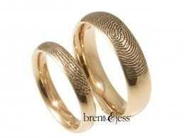 wedding gold rings brent jess custom handmade fingerprint wedding rings