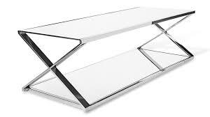 apex coffee table mirrored glass and chrome zuri furniture