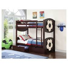 All Star Kids Soccer Bunk Bed EspressoTwinTwin Acme  Target - Espresso bunk bed