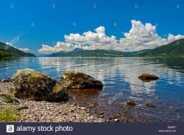 loch ness near foyers scotland great britain stock photo