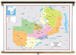 map of zambia zambia political educational wall map from academia maps