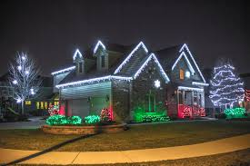 Red And White Christmas Lights by American Holiday Lights Installation Company Chicago Residential