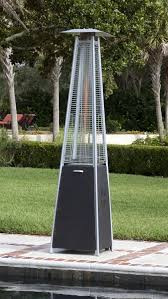 Flame Patio Heater Brushed Bronze Pyramid Flame Patio Heater