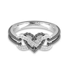 promise ring you forever promise ring with infinity and heart designer
