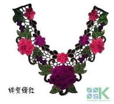 lace accessories diy patches collar 1pcs 3d collar embroidered lace applique fabric