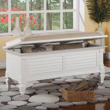 holland house 2697 storage bench with upholstered seat royal