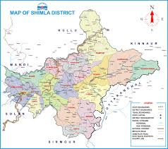 Map Of India Cities Shimla Map District Website Shimla Govt Of Hp India