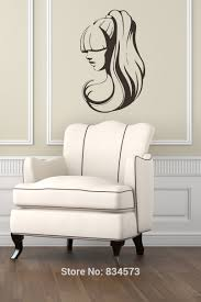 popular american hair removal buy cheap lots girl with long hair beauty wall art stickers decal home decoration sticker removable