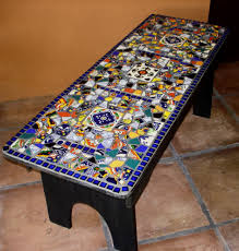 Mexican Kitchen Decor by My First Mosaic Piece A Found Wood Bench Retiled With Broken