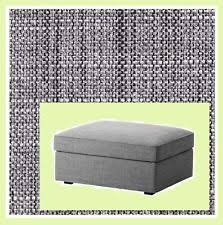 ikea kivik cover for footstool ottoman with storage isunda gray