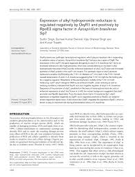 microbiology society journals expression of alkyl hydroperoxide