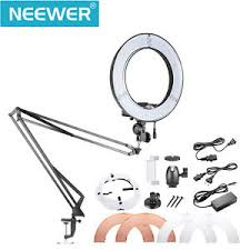 neewer led ring light neewer table top 14 inch outer dimmable led ring light lighting kit