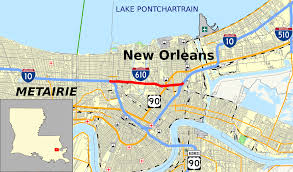 New Orleans Zip Code Map Interstate 610 Louisiana Wikipedia