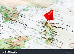 Philippines Map World by World Map Pin On Capital City Stock Photo 401310976 Shutterstock