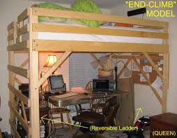 Bedroom Amazing And Beautiful Full Size Loft Bed With Desk For - Wood bunk beds with desk and dresser
