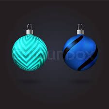 two tree toys with different ornaments vector