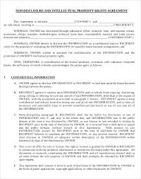 licensing agreement template free non disclosure agreement templates free pdf word document