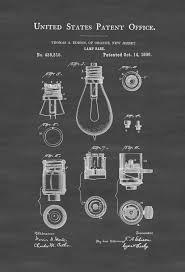 lamp base patent print decor kitchen decor restaurant decor