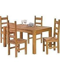 Pine Kitchen Tables And Chairs by Pine Kitchen Table Ebay