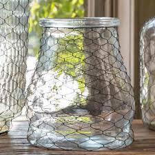 park hill collection jar w chicken wire ds8975